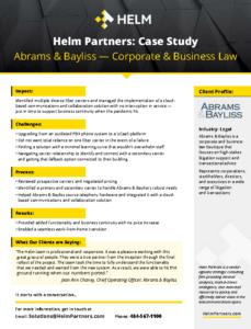 Helm Case Study AbramsBayliss
