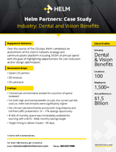 Helm Case Study Dental and Vision