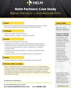 Barton Partners Helm case study